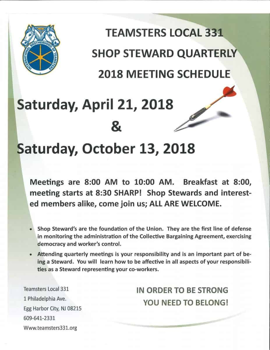 Shop Steward Corner Teamsters Local 331